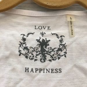 love happiness Tops - White sequin tank top